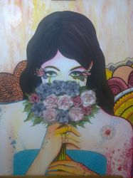 Oler las Flores / Smell the flowers by Cyan-dg