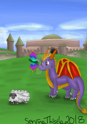 No more flaming the sheep in Stone Hill Spyro! by ServineThistle