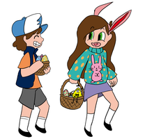 Happy Easter from Gravity Falls by TheNightmareGirls