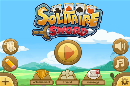 Solitaire Sword -  Title Scene by kataneriel