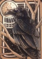 ACEO: Raven's Watch by DanielleMWilliams