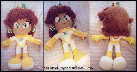 *SOLD* Biker Princess Daisy Plush Doll by Sarasaland-Dragon