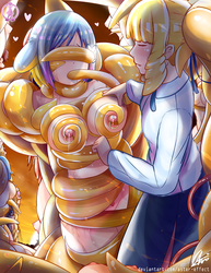Distressland: Mrin and Emily Tentacles Quest 2/2 by Aster-Effect