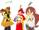Birds and Birbs by Scarlet-Ajani
