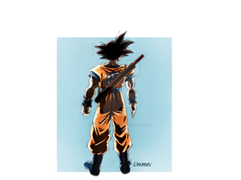 Adult Goku with Power Pole by Unmei-no-kaioshin