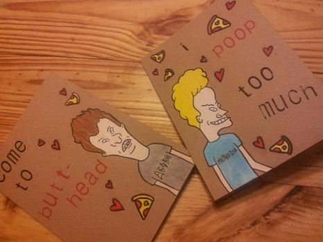 Valentines on greetingcards DeviantArt – Beavis and Butthead Birthday Card