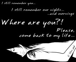I still remember... Please, come back. by miobitat