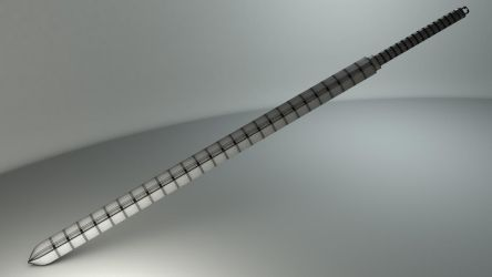 Whip Sword- Wireframe by JWright-3D-Graphics