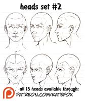 Heads Set 2 by Kate-FoX