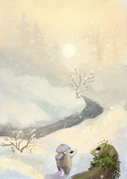 Waterways Intro- a cold day for small travelers by The-Monster-Shop