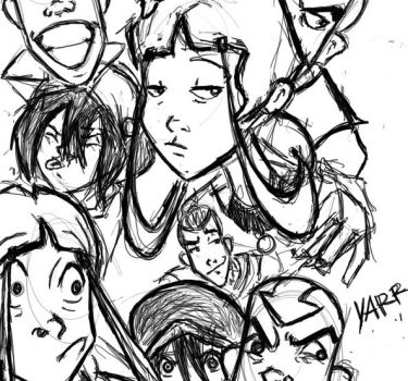 ATLA sketchdump by yellow-surfer