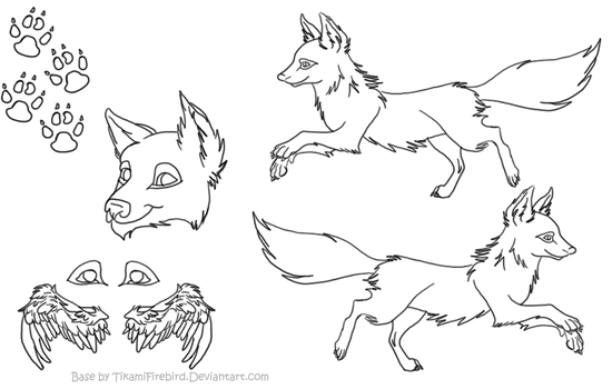 Foxes On Animal-lineart