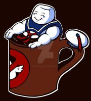 Hot Cup of State Puft by JellySoupStudios