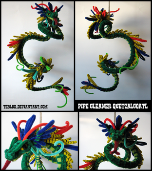 Pipecleaner Quetzalcoatl by teblad