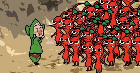Tingle is NOT a Green Pikmin by autoacat