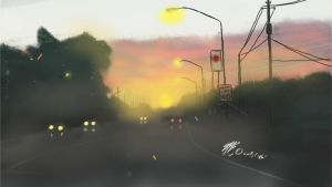 Sketch This Challenge Night Scape by munchchewy0