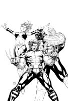 Inks - Ultimate X-Men Cover by Steve McNiven by adr-ben
