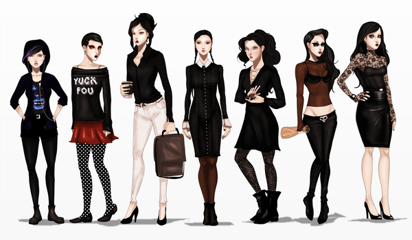 The Addams Cousins by IsaiahStephens