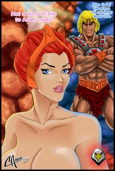 teela and He-man by CarbertArtwork