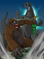 King Kong Vs Godzilla by hawanja