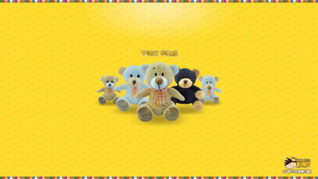 Plush Teddy Bears Wallpaper by bobandjokic