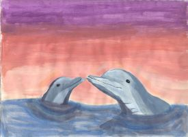 Dolphins by LunaBelleHadley