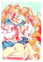 Sailor Moon Fighting by Pascalou