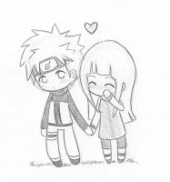 Chibi NaruHina love by Nowii