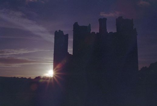 Silhouetted abbey by the-boggyb