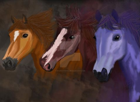 got me some horses to ride on by B9Creations