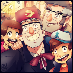 Gravity Falls: Pines Family by nupao