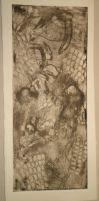 Imprint of the Light Serpent - Intaglio - 5''x12 by HybridPersonality