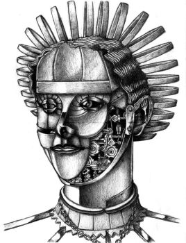 Metalwork of Woman's Face by AzureKevin
