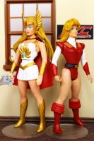 Custom vintage style She-Ra and Adora figures by hunterknightcustoms