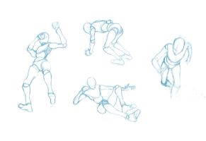 Pose Studies 2 - References from Mixamo by Brant-Bi