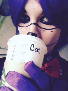 Bonnie drinks Starbucks too! by LittleBlooBunny