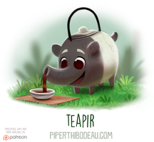 Daily Paint 1582. Teapir by Cryptid-Creations
