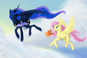 RQ- A Friendly Stroll in the Clouds by EmeraldRainDragon