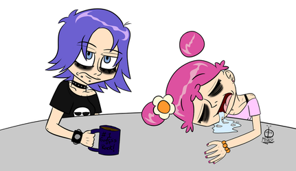 A Rocker's Morning by TwiztidMintZArt