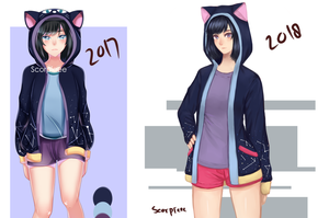 (Mascot) Improvement 2017 - 2018 by Scorpieee