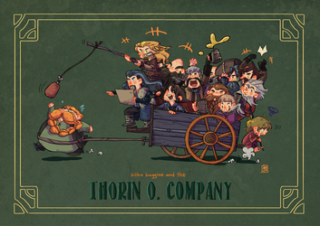 Bilbo and the Dwarves by jingster