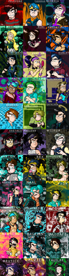 All my Neopets Humanized V2 by Rochejii