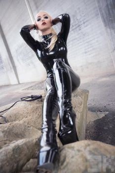 Lotte - Black Catsuit 02 by Kopp-Photography