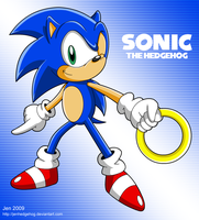 : SONIC : by JenHedgehog
