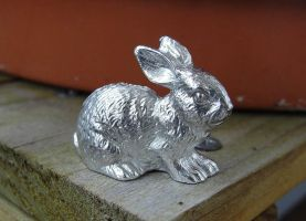 Pewter Bunny by Psydrache