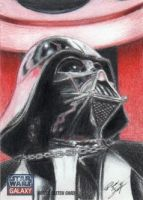 Star Wars G7 - Darth Vader Sketch Art Card 2 by DenaeFrazierStudios