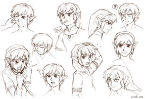 Link Making Faces... Sketch Dump by yueki
