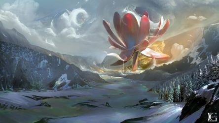 Red Lotus by Kevin-Glint