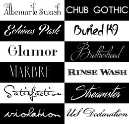 Pack Fonts 001 by MadeInSevila