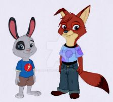 Zootopia - Jared and Nilda - Vers. 2 by Shadeink